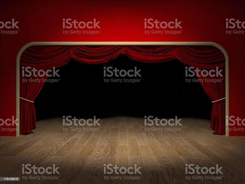 Theatre Curtains stock photo