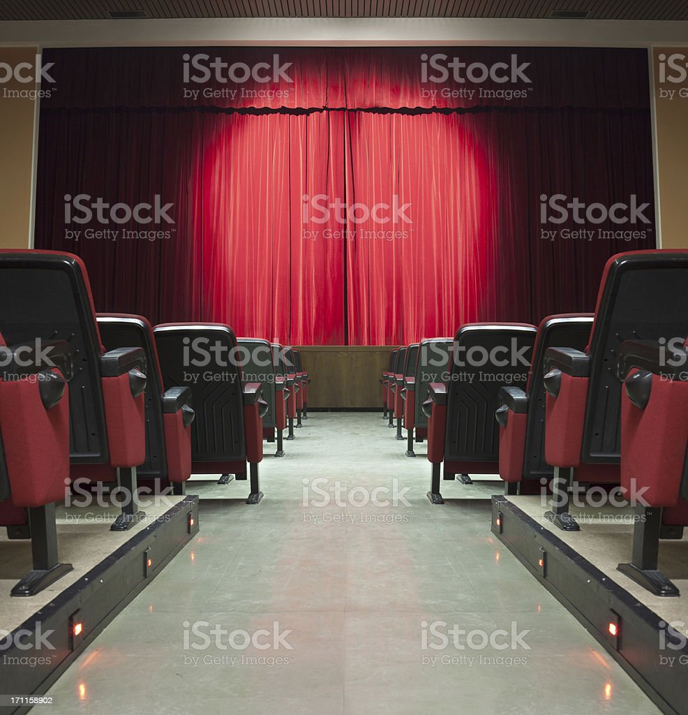 Theatre Hall stock photo