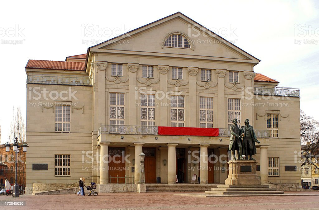 Theater in Weimar stock photo