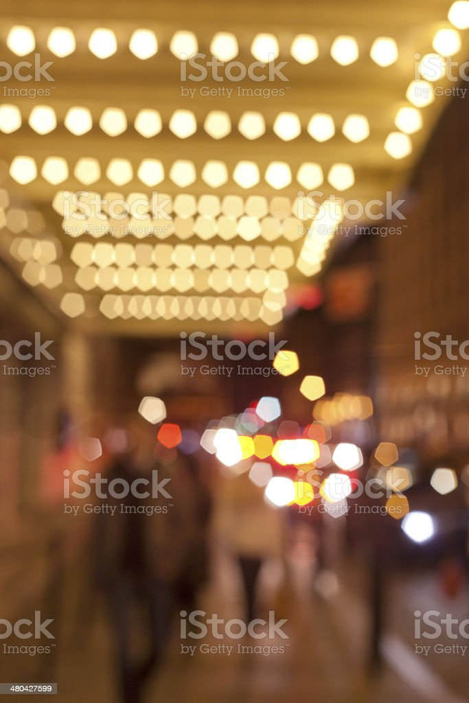 Theatre Marquee stock photo