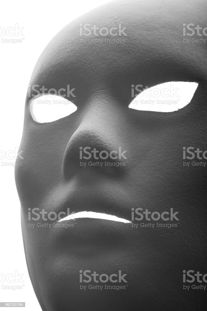 Theatre mask on white background royalty-free stock photo