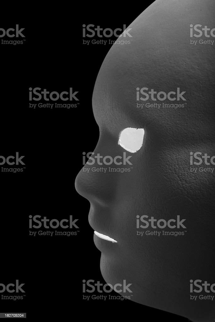 Theatre mask on white background royalty-free stock photo