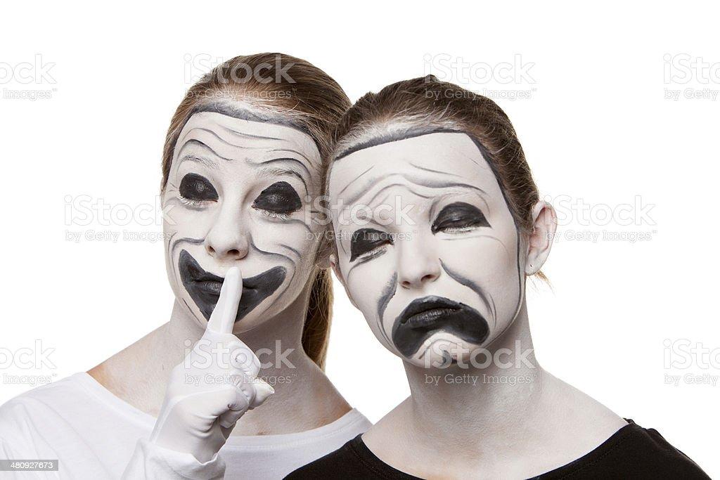 Theatre Masks royalty-free stock photo