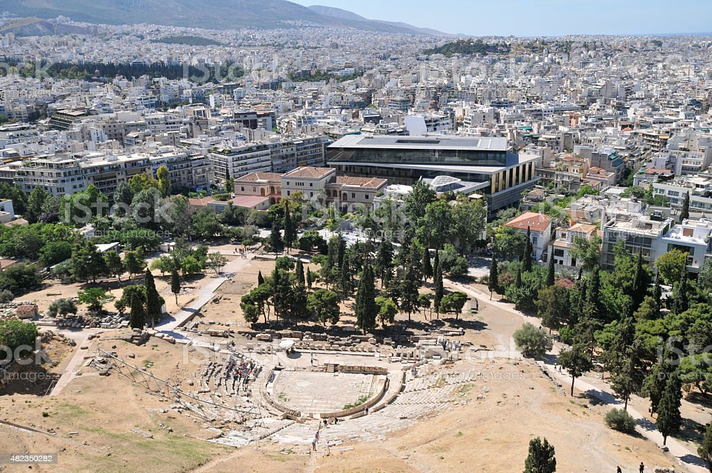 Theatre of Dionysus, Athens, Greece stock photo