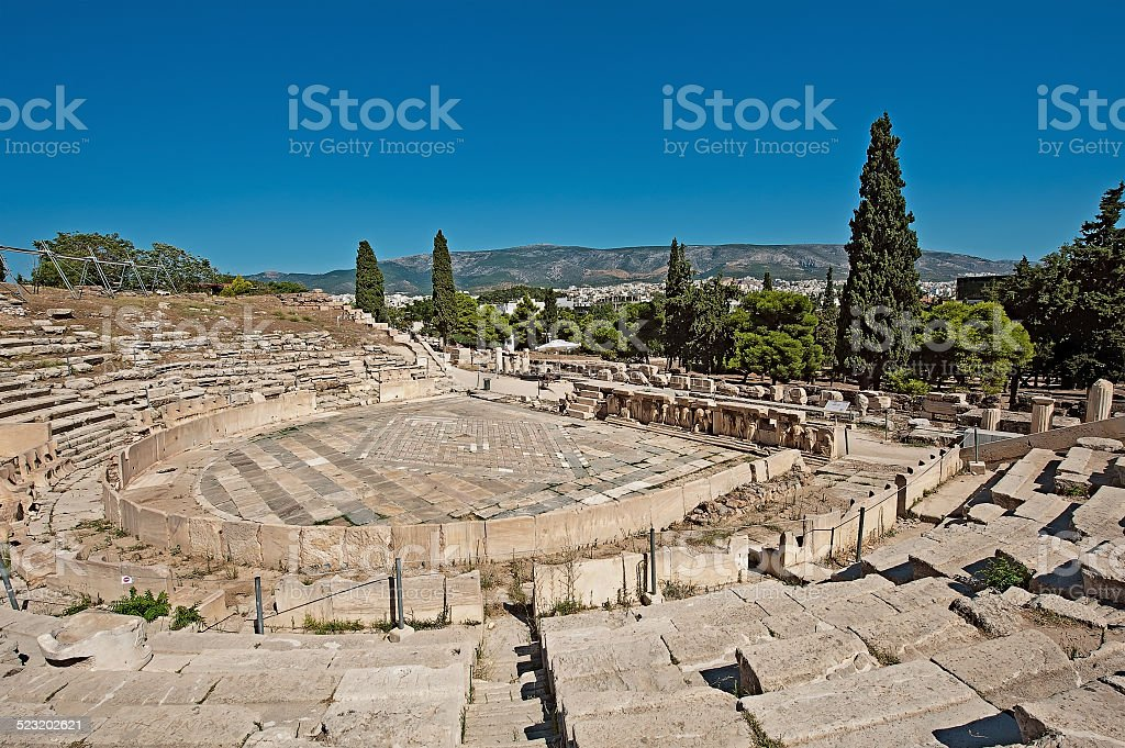 Theatre of Dionysus stock photo