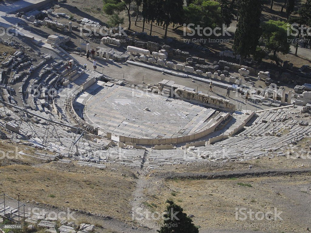 Theatre of Dionysus royalty-free stock photo