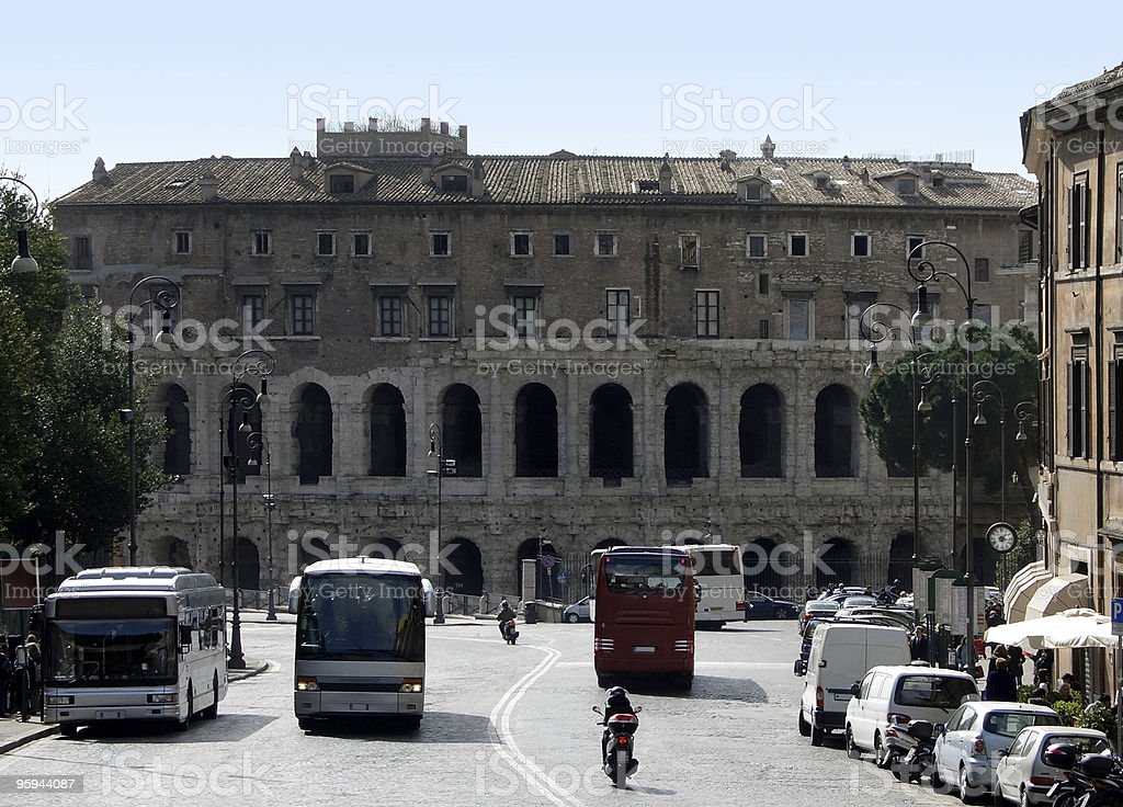 Theatre of Marcellus royalty-free stock photo