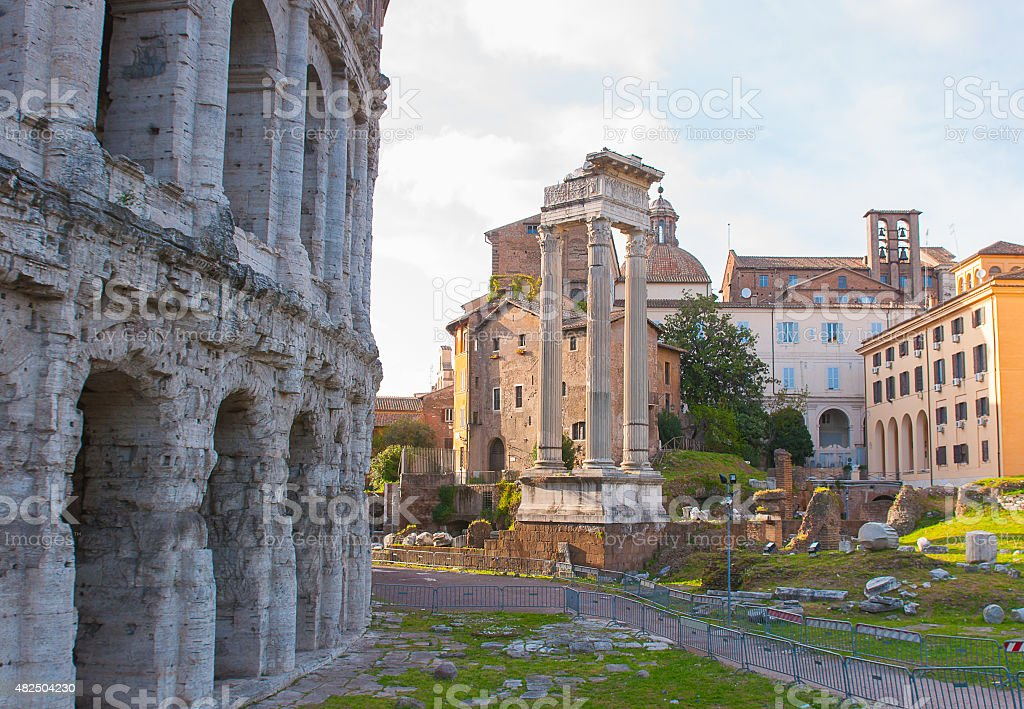 Theatre of Marcellus, Rome Italy. stock photo