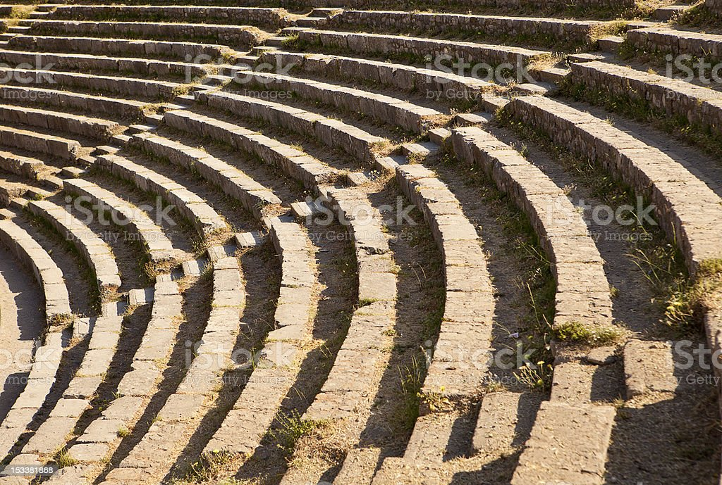 Theatre Seats in Taormina royalty-free stock photo