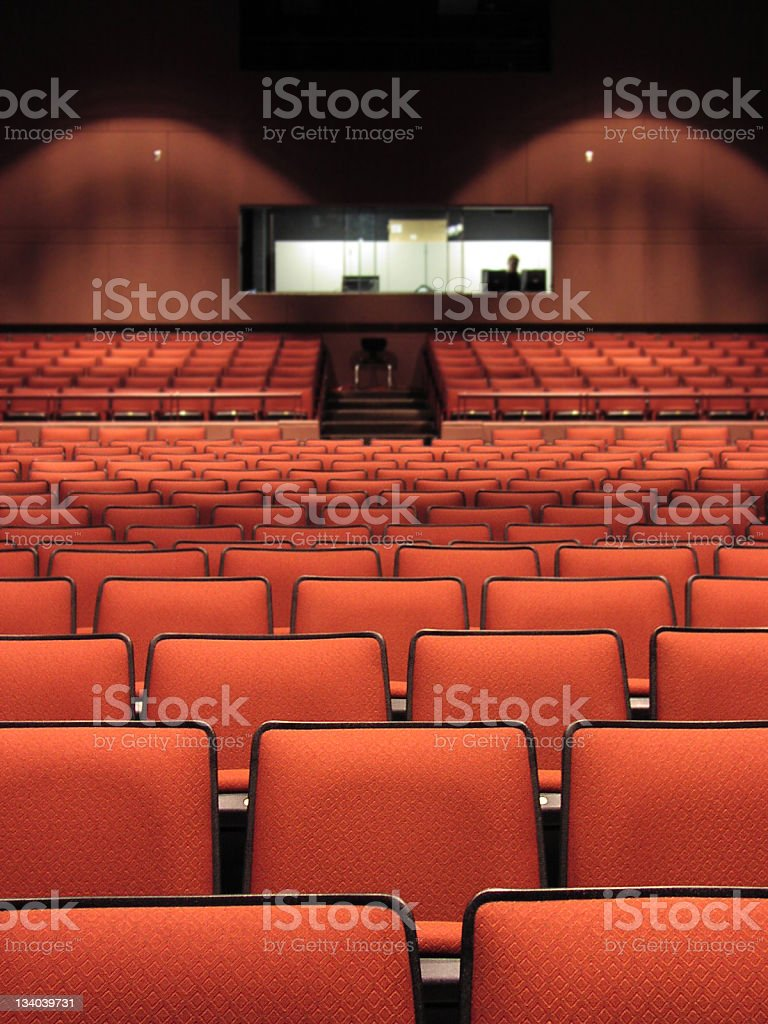 Theatre Seats royalty-free stock photo