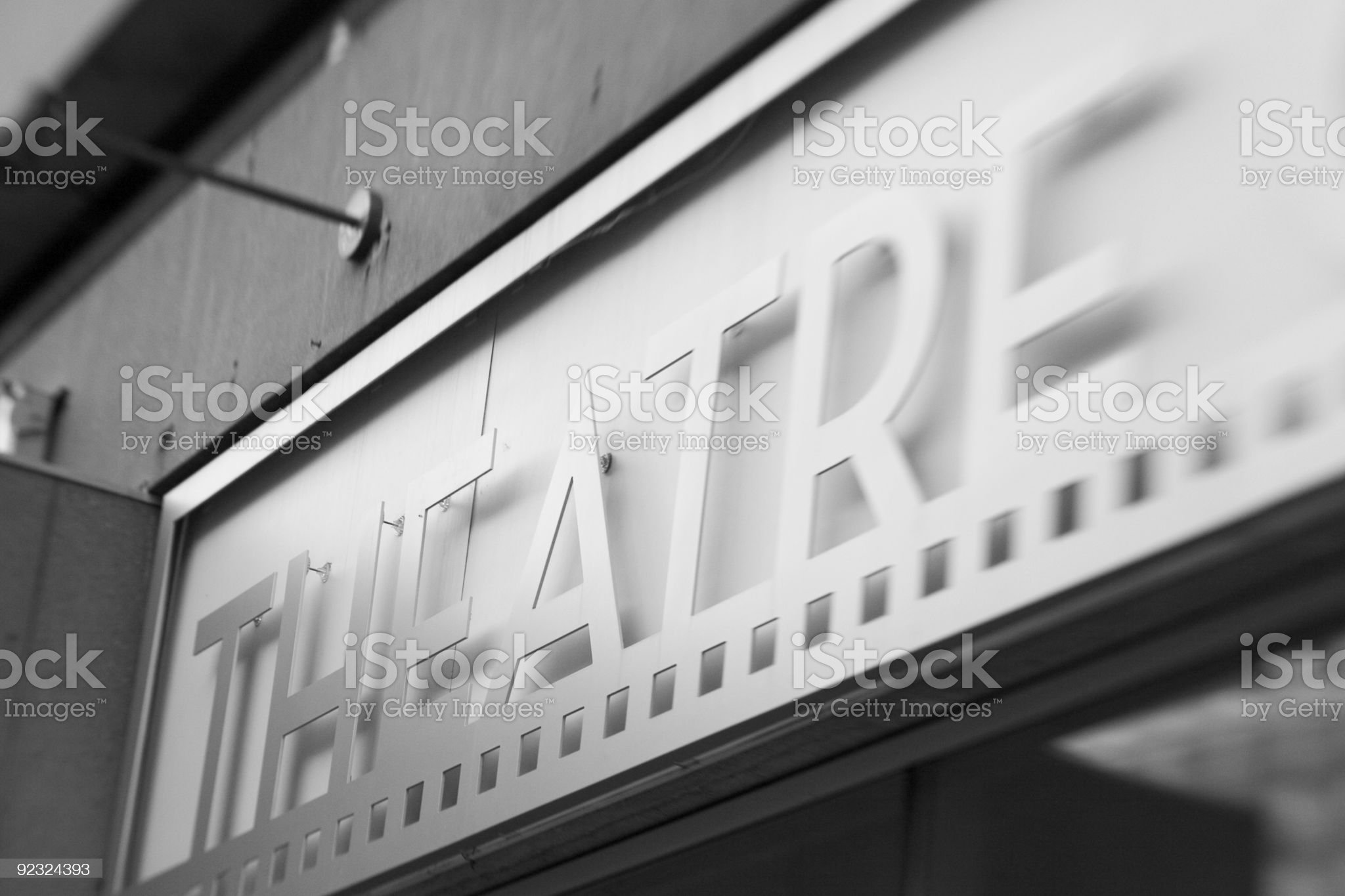 Theatre Sign royalty-free stock photo