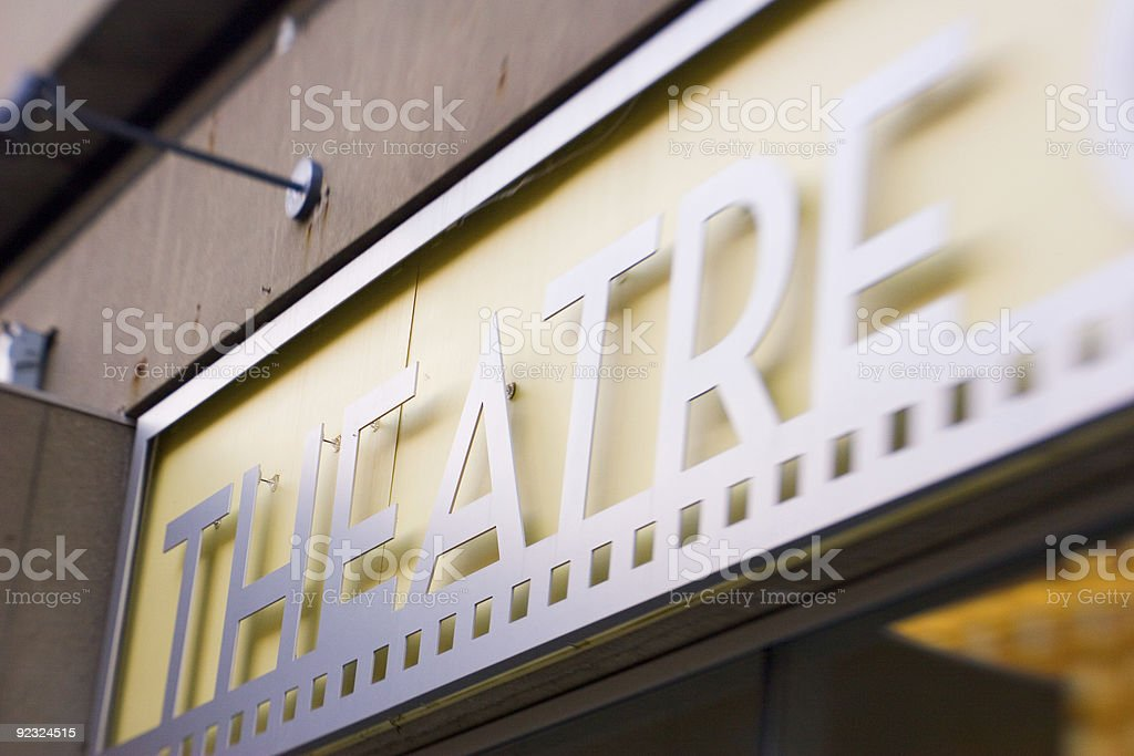 Theatre Sign (color) royalty-free stock photo
