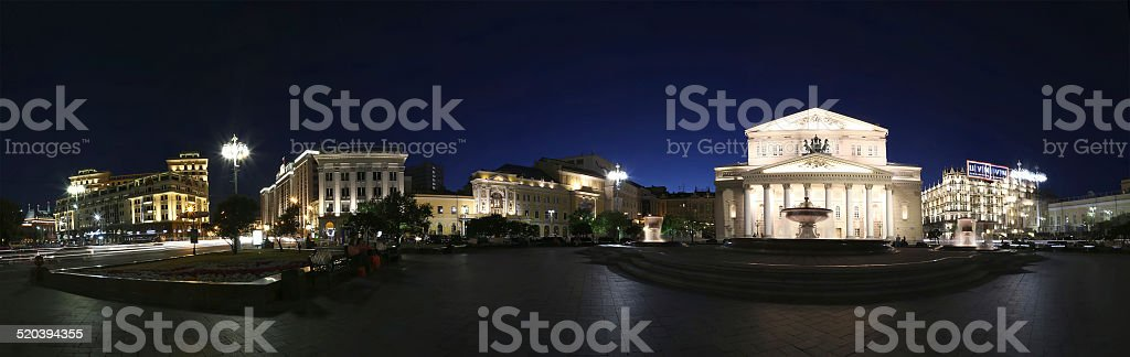 Theatre Square and Bolshoi Theatre, Moscow, Russia stock photo
