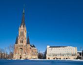 Theatre Square in Chemnitz, Saxony
