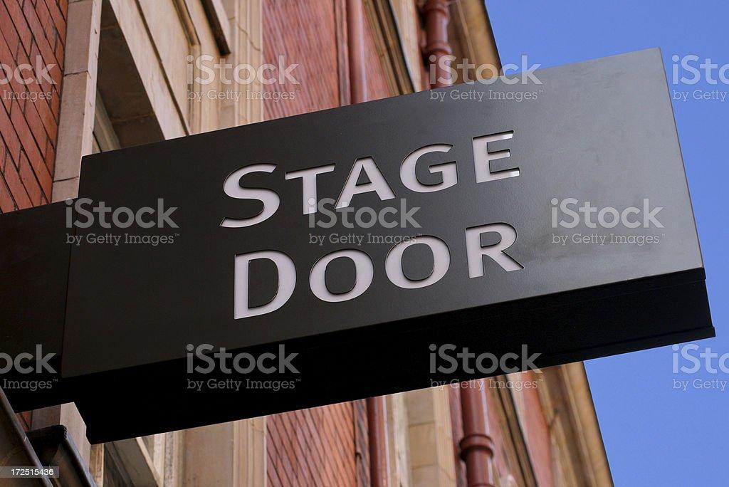 Theatre Stage Door royalty-free stock photo
