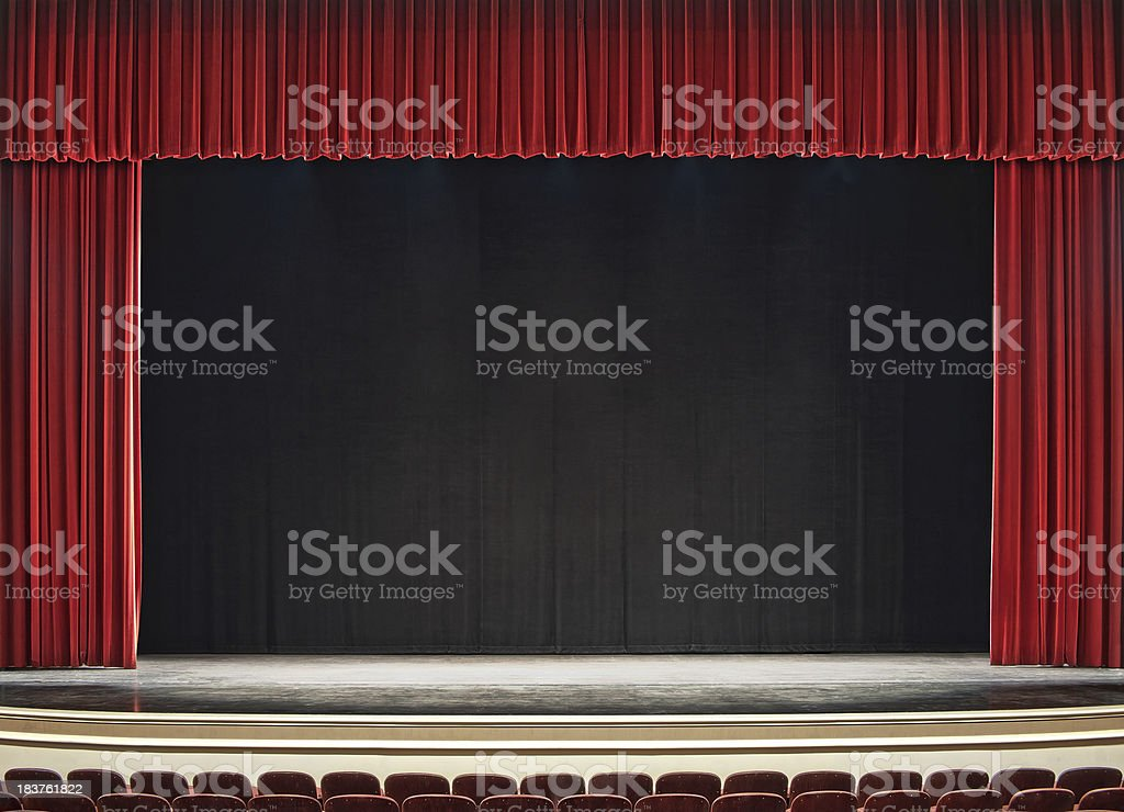 theatre stage royalty-free stock photo