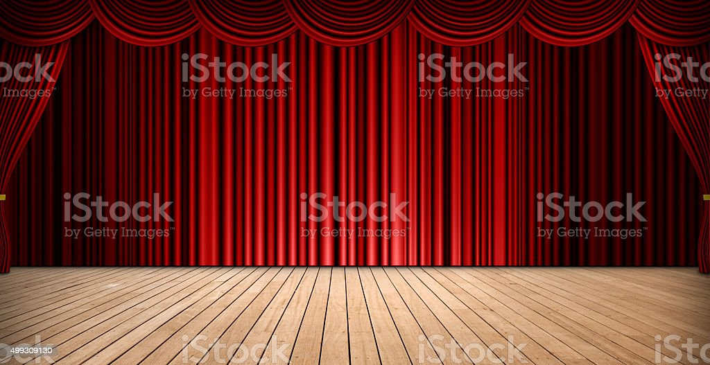 Theatre stage stock photo