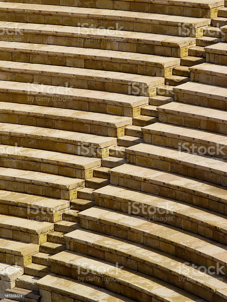 Theater in Caesarea, Israel royalty-free stock photo