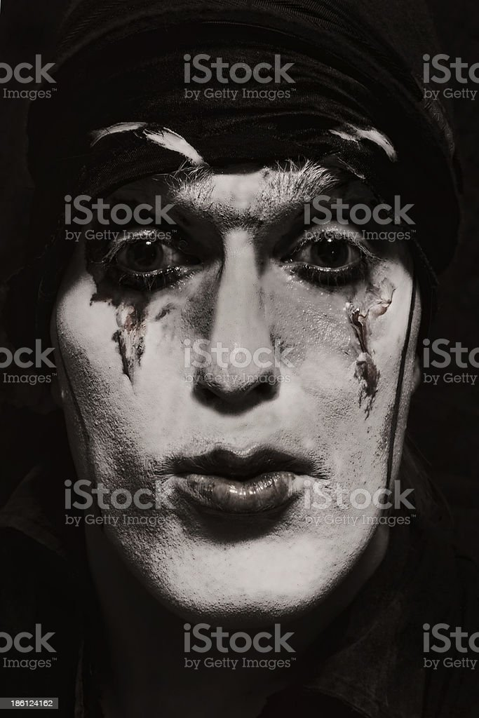 theatrical actor with dark makeup royalty-free stock photo