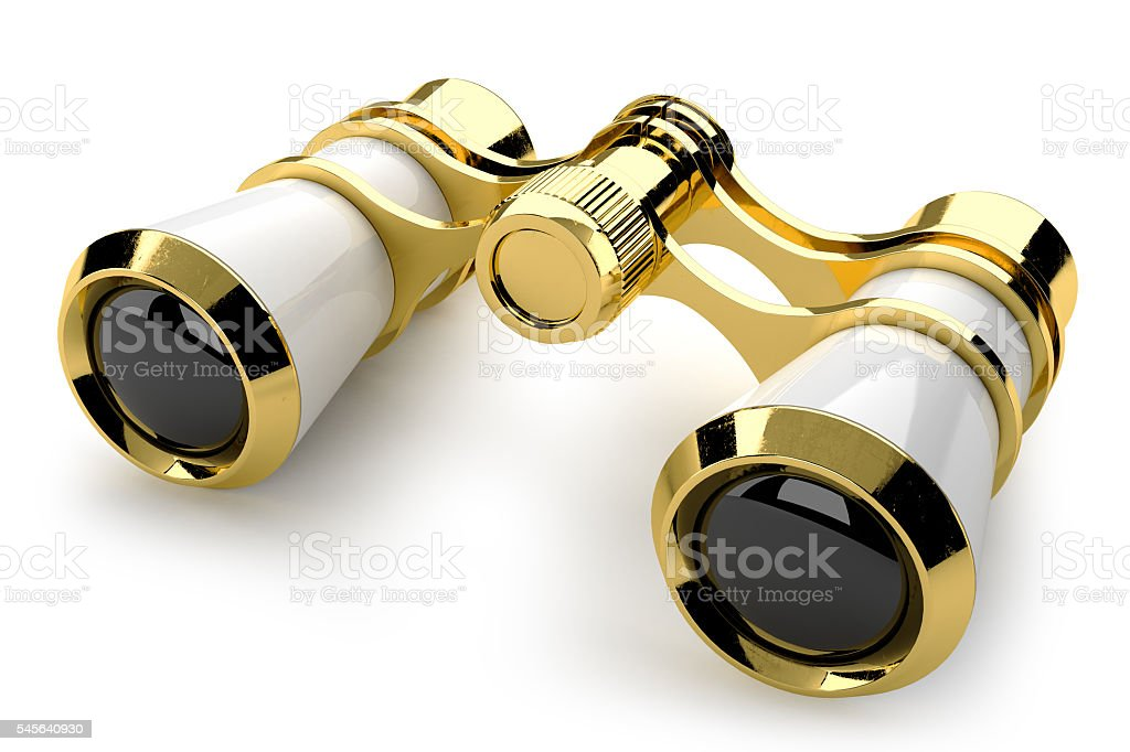 theatrical binoculars 3d stock photo