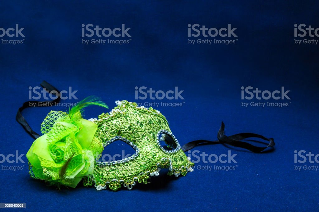Theatrical face pack against a dark background stock photo