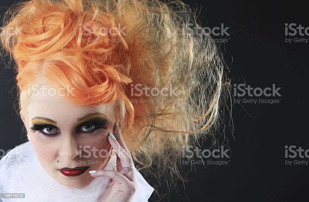 Theatrical fire and ice female royalty-free stock photo
