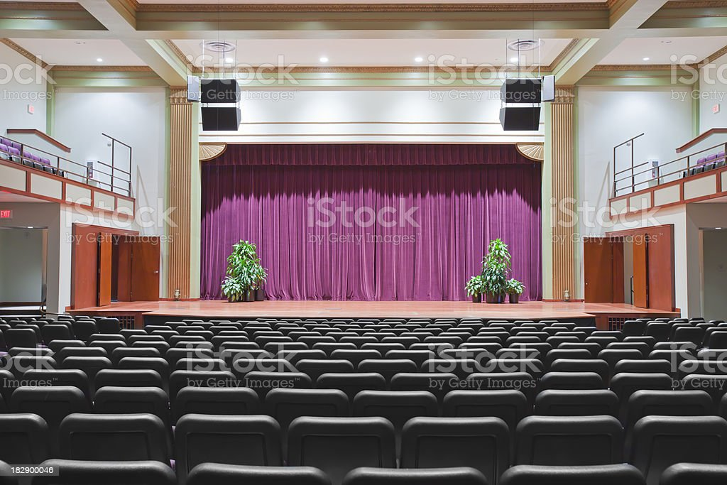 Theatrical Stage royalty-free stock photo