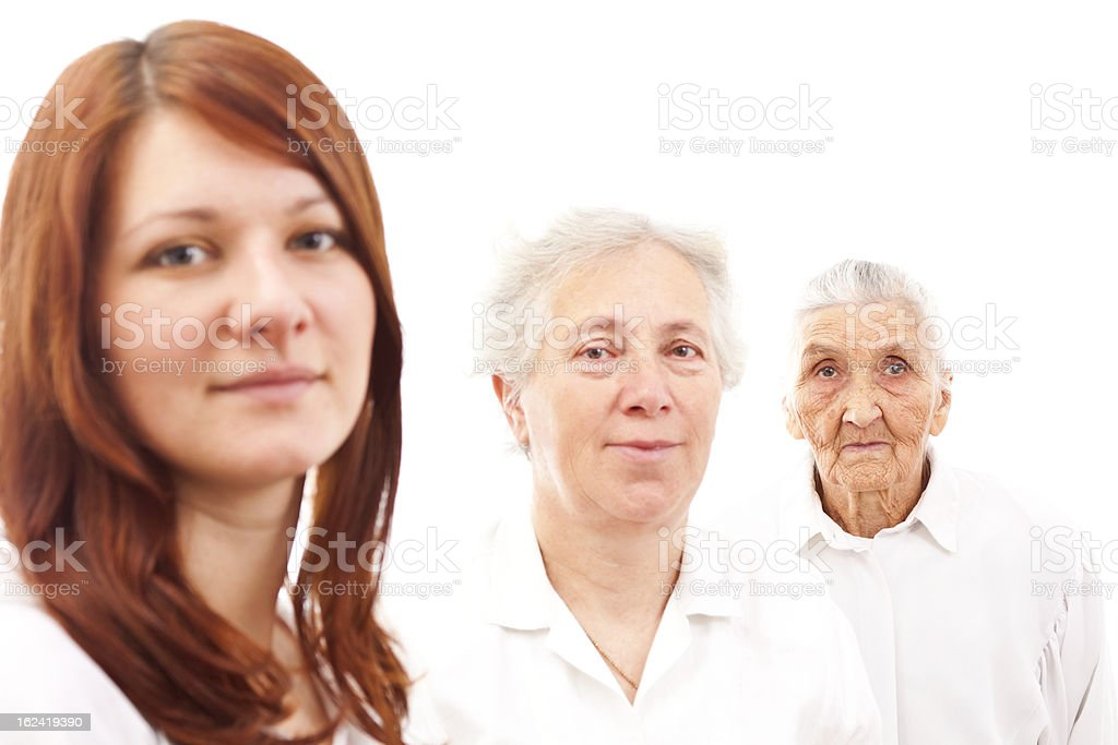 thee generations royalty-free stock photo