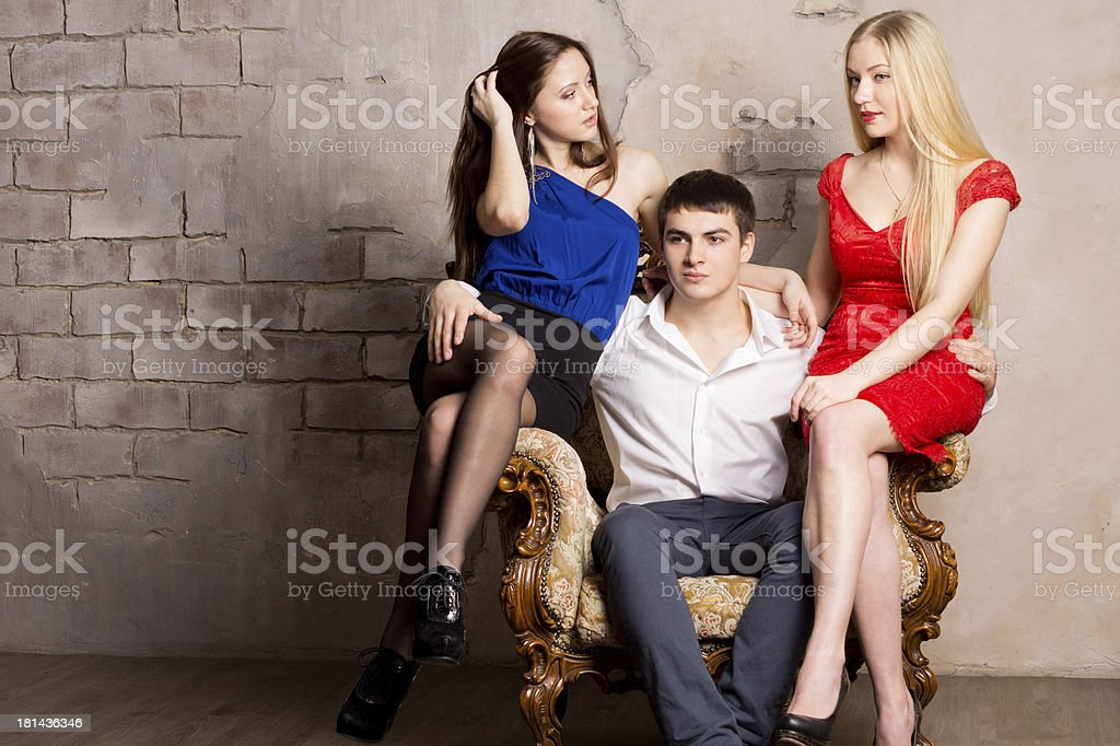 Thee model royalty-free stock photo