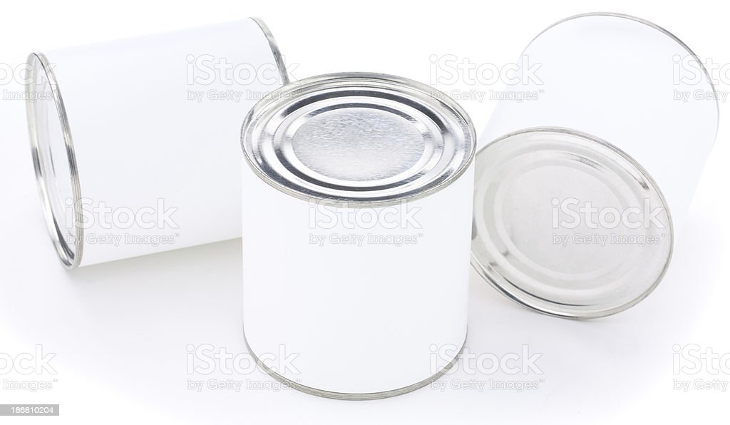 Thee tin cans royalty-free stock photo