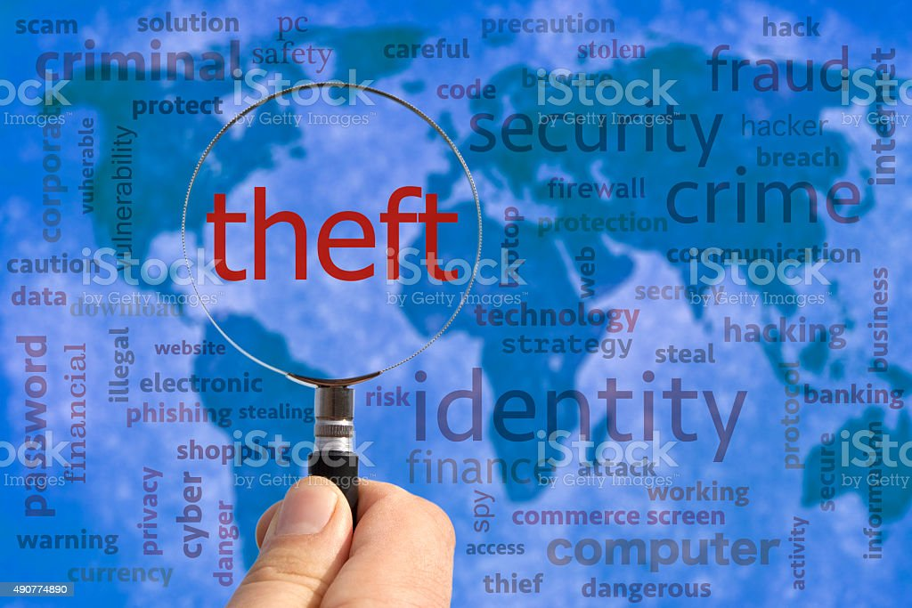 theft concept stock photo