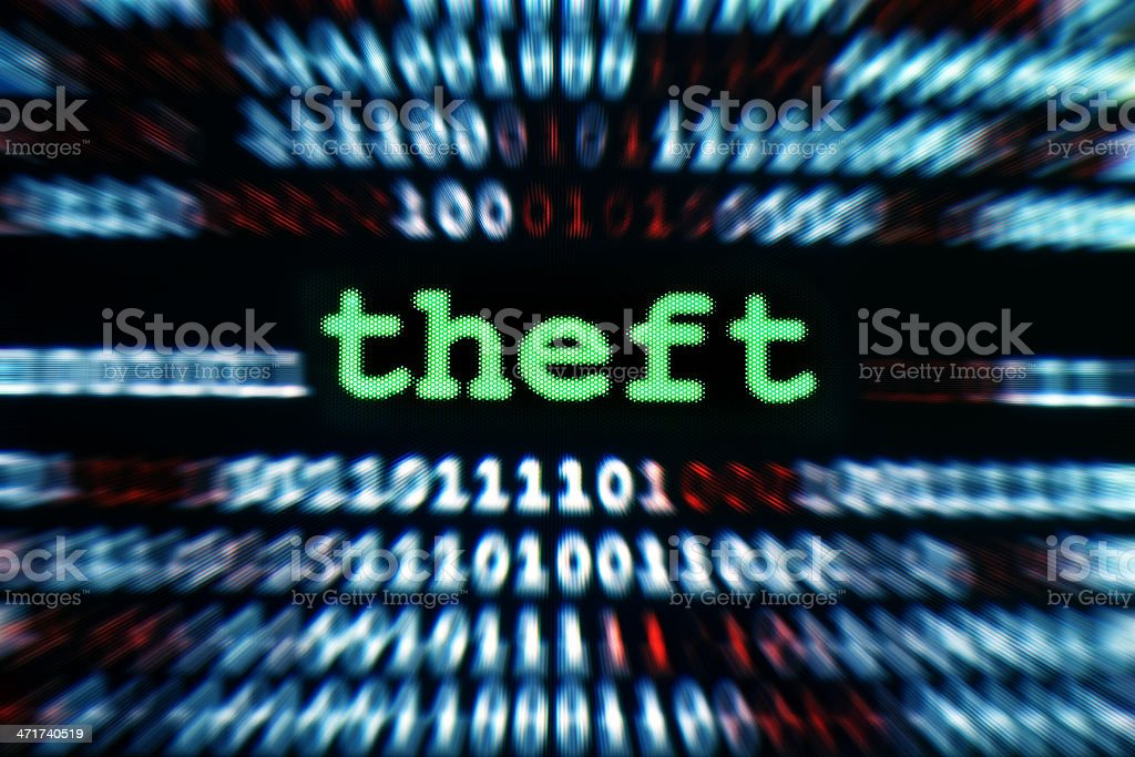Theft royalty-free stock photo