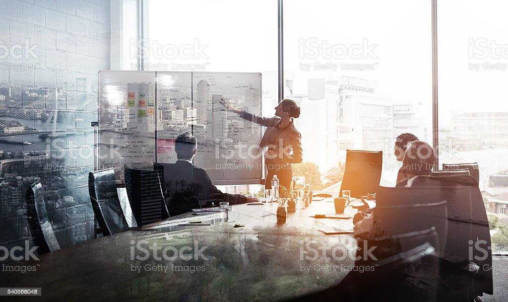 Their company is taking the city by storm stock photo