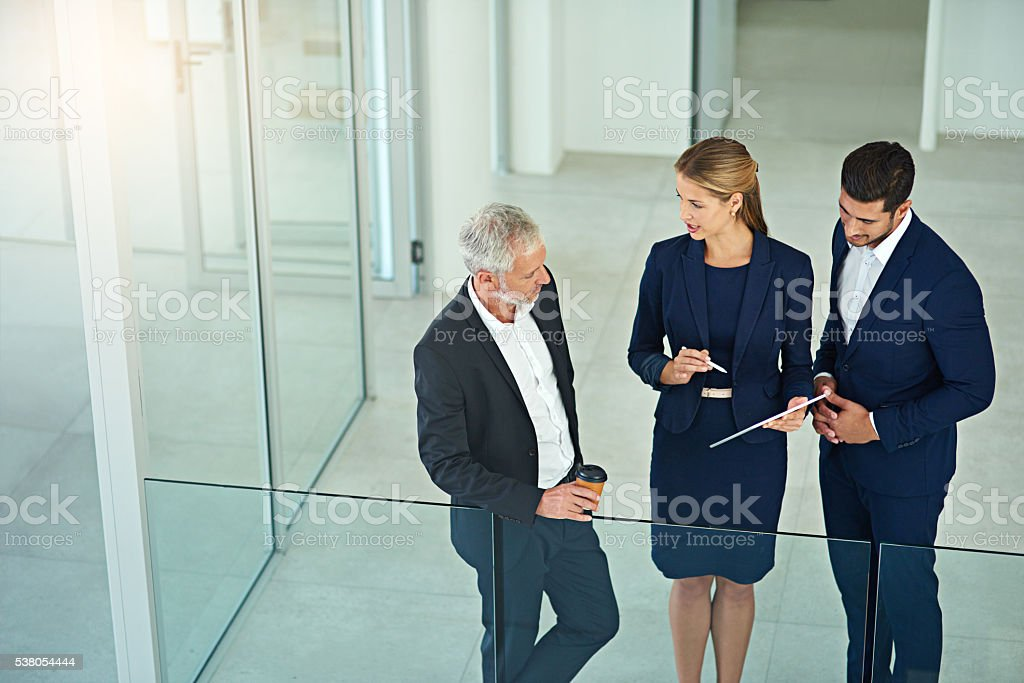 Their decisions take the company forward stock photo