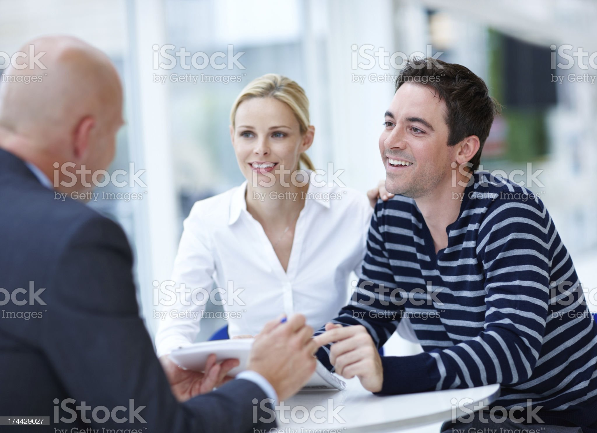 Their financial stability is assured royalty-free stock photo