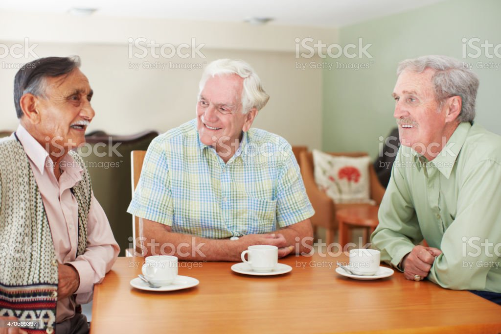 Their friendship is still going strong royalty-free stock photo