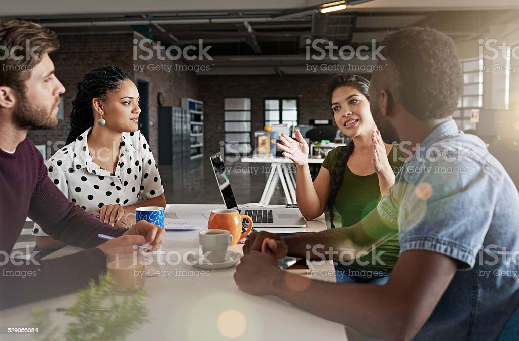 Their group synergy will lead them to success royalty-free stock photo