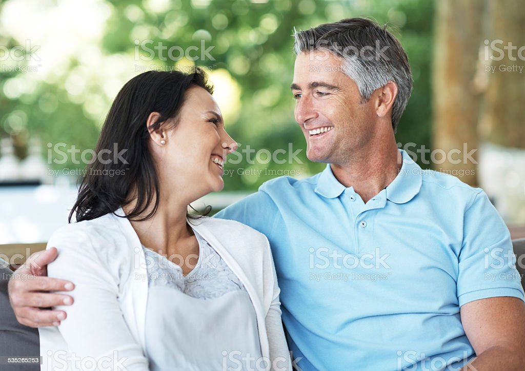 Their love hasn't faded one bit stock photo