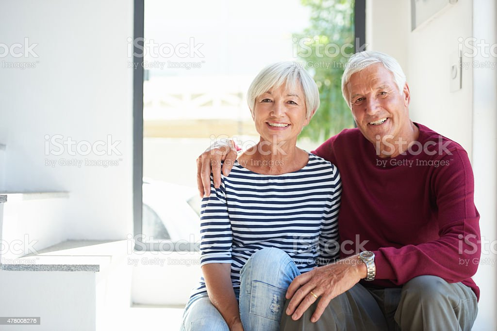 Their love is strong stock photo