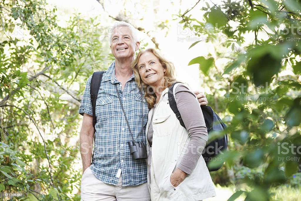 Their love of the outdoors brings them together royalty-free stock photo