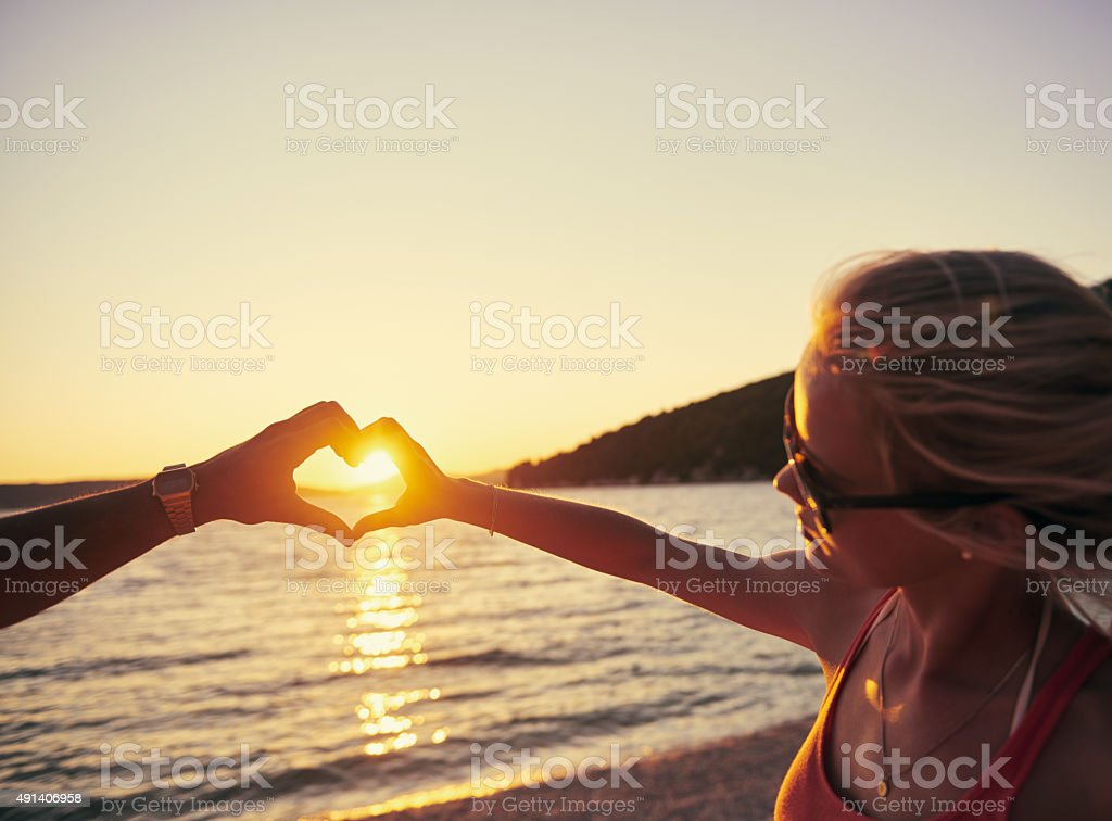 Their love shines bright stock photo