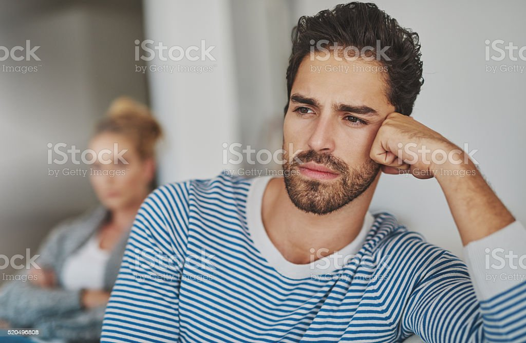 Their marriage is in trouble stock photo