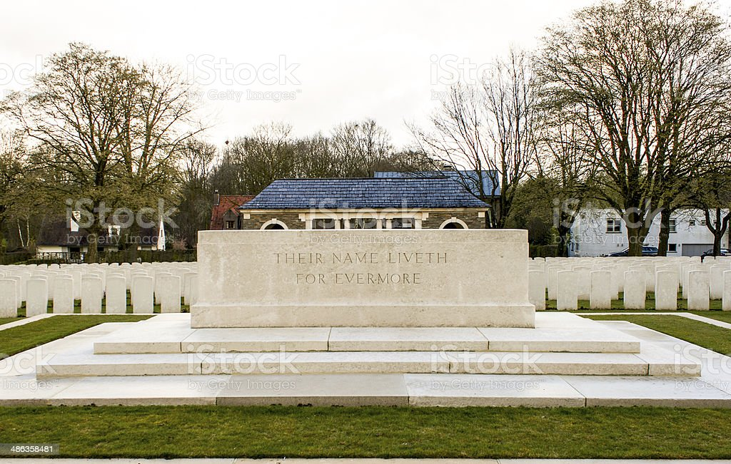 Their Name Liveth for Evermore world war one stock photo
