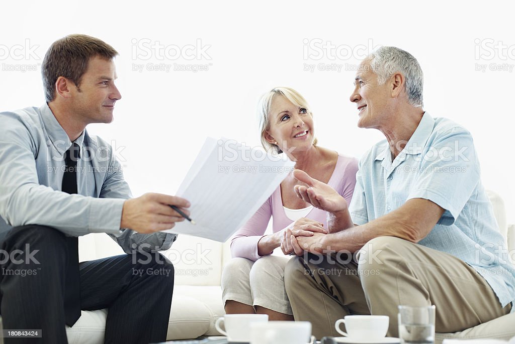 Their retirement fund is in safe hands royalty-free stock photo