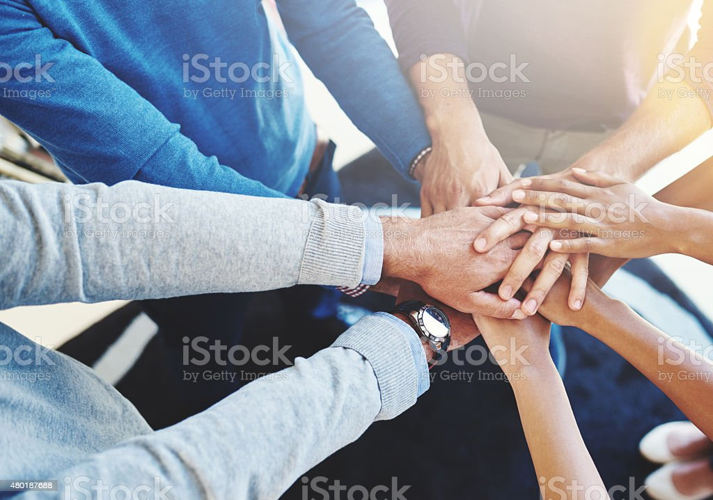 Their secret is great teamwork stock photo