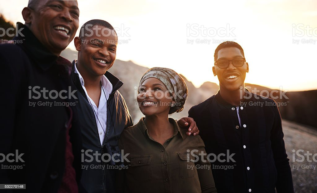 Their vacation is a family affair stock photo