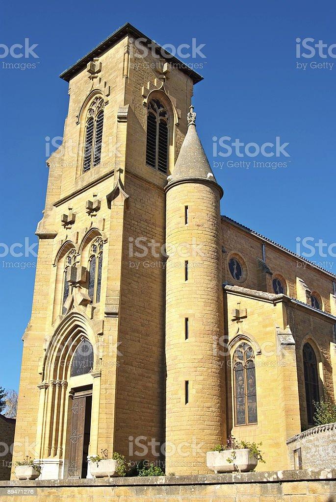 Theize church (Beaujolais) stock photo