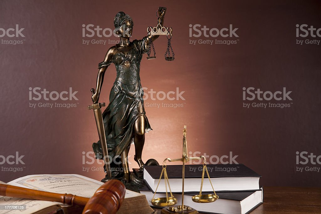 Theme of law and justice with ambient light royalty-free stock photo