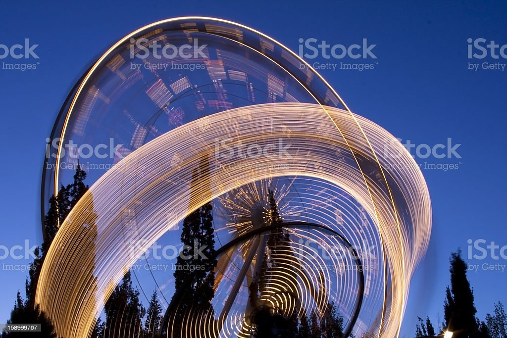 Theme Park at Night royalty-free stock photo