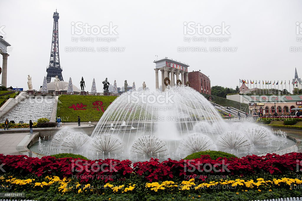 Theme park at Schenzen China royalty-free stock photo